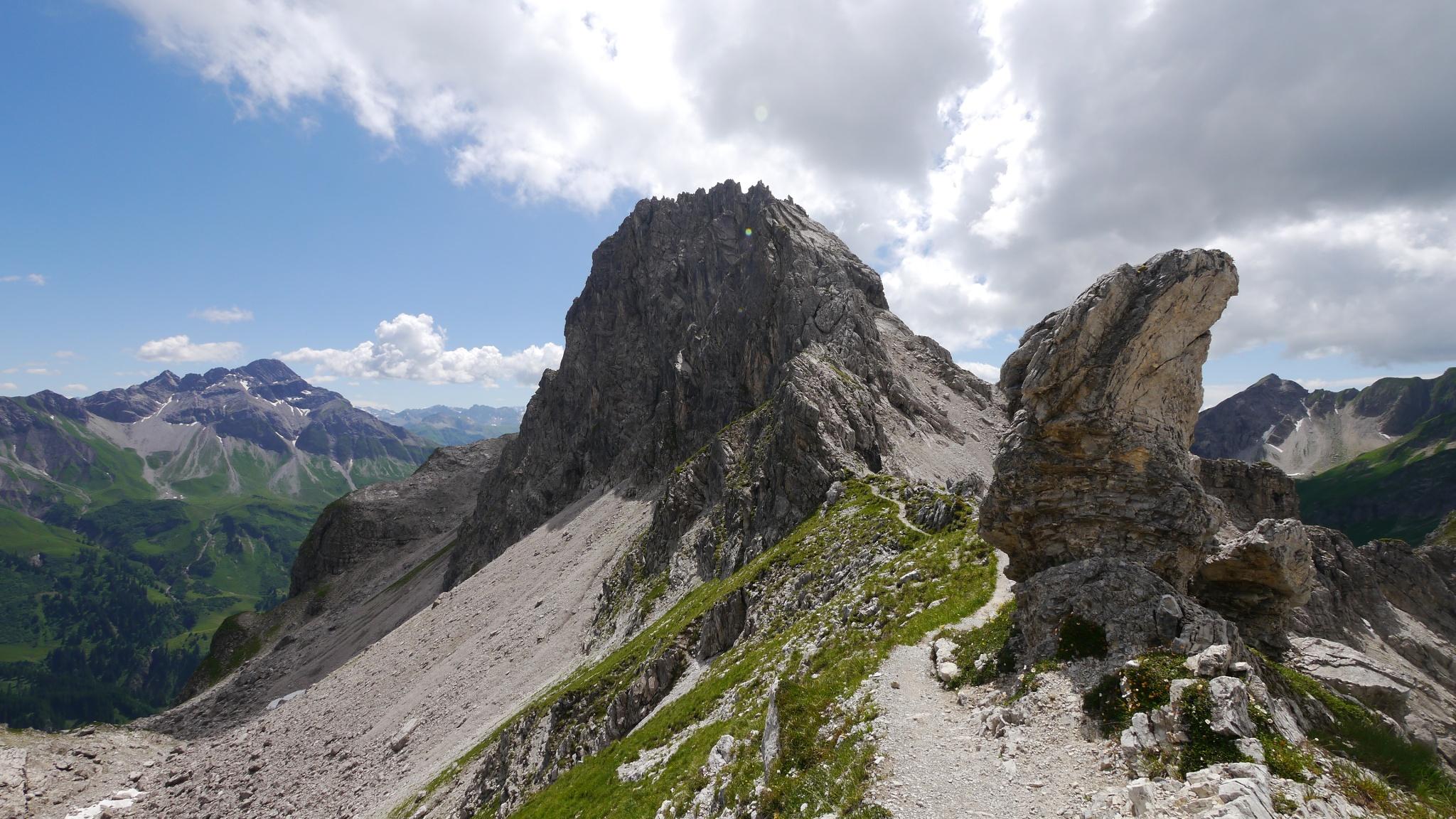 Klettersteig Kleinwalsertal : Von der fiderepasshütte über den mindelheimer klettersteig