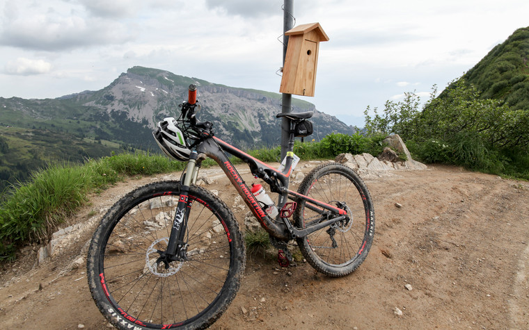 Mountain bike on tour | © Kleinwalsertal Tourismus eGen | Photographer: Frank Drechsel