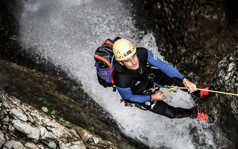 Canyoning experience with the Bergschule Kleinwalsertal | ©  Kleinwalsertal Tourismus eGen | Photographer: Dominik Berchtold