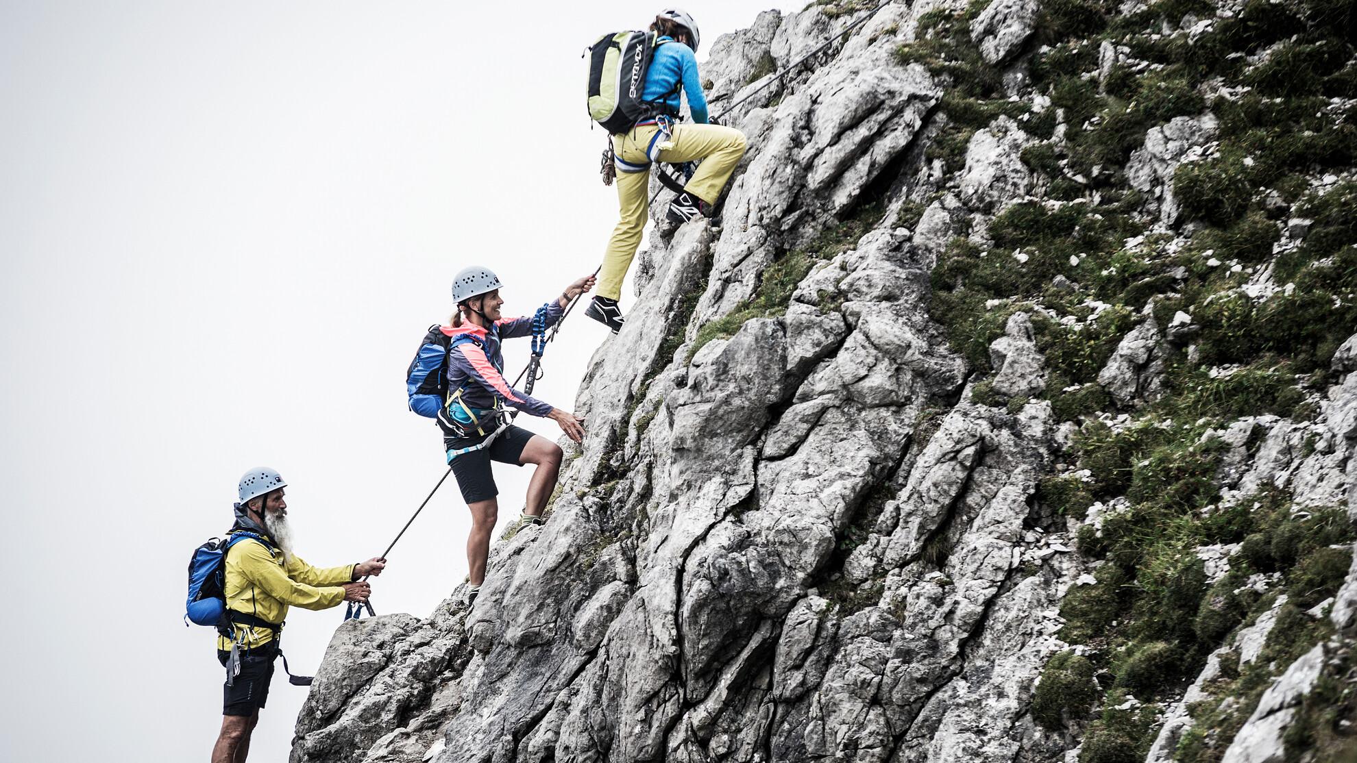 Klettersteig Urlaub : Klettern im kleinwalsertal klettersteige bergabenteuer