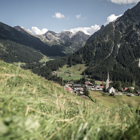 View of the Schafalpkopf from Zaferna | ©  Kleinwalsertal Tourism eGen | Photographer: Dominik Berchtold