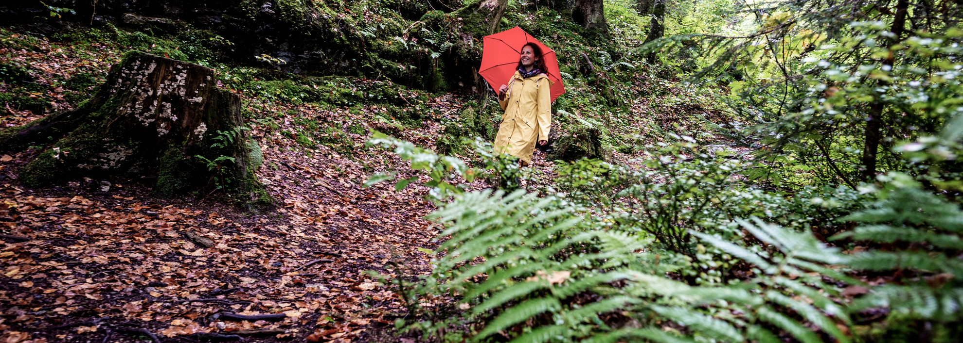 Hiking on rainy days | © Kleinwalsertal Tourismus eGen | Photographer: Dominik Berchtold