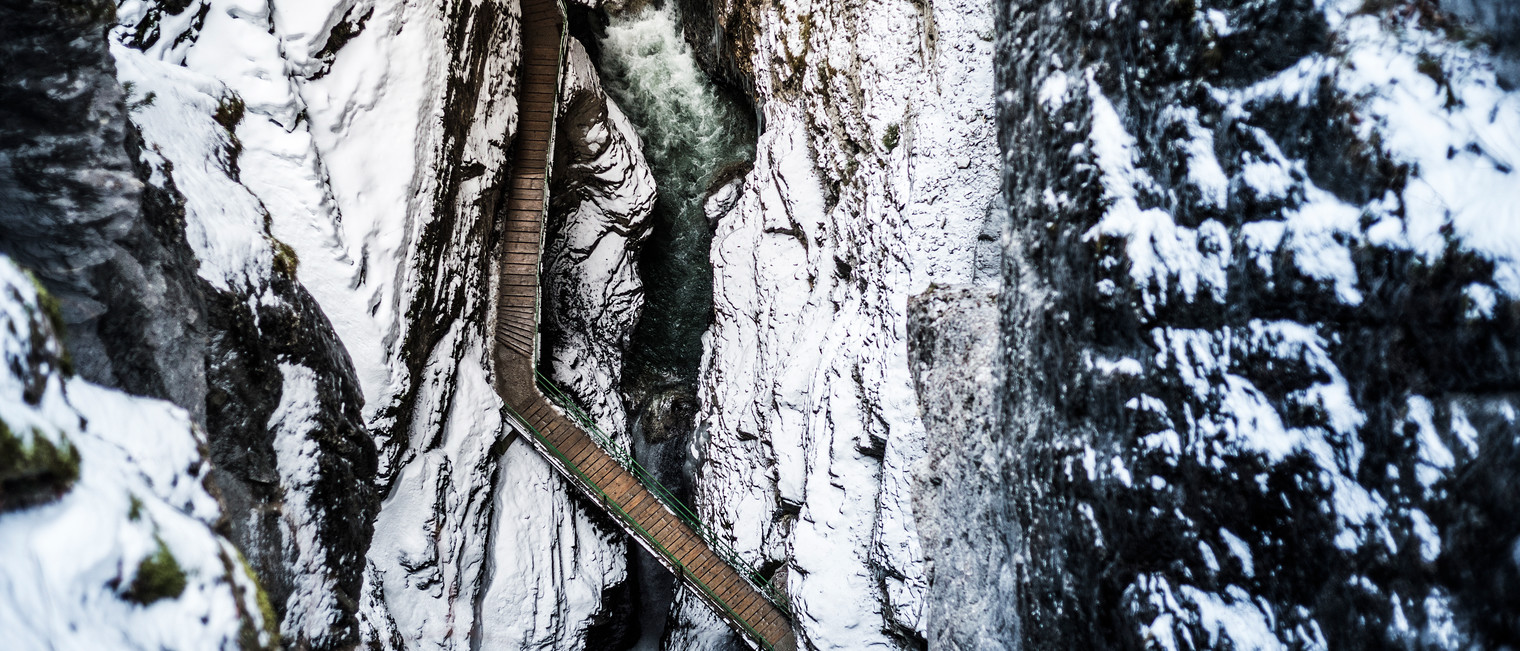 Breitachklamm from above | © Kleinwalsertal Tourismus eGen | Photographer: Dominik Berchtold
