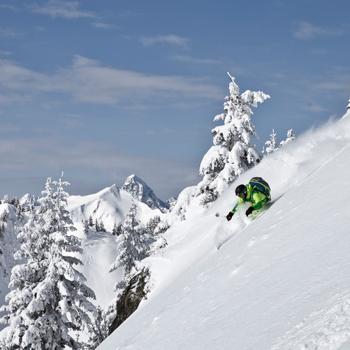 Freeriden in the Kleinwalsertal | © Marmot | Photographer: Anton Brey