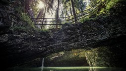 Natural bridge at Schwarzwasserbach | © Kleinwalsertal Tourismus eGen | Photographer: Oliver Farys