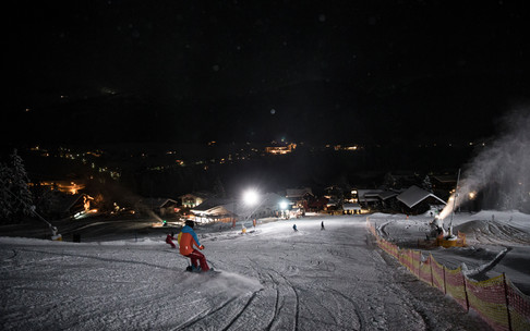 Floodlighting at the Kesslerlift | © Kleinwalsertal Tourismus eGen | Photographer: Oliver Farys