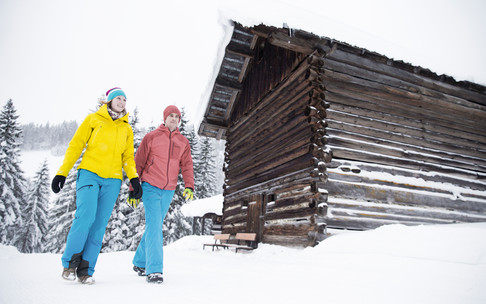 Winter hiking on Hörnlepass | © Kleinwalsertal Tourismus eGen | Photographer: Oliver Farys