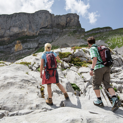 Hiking on the Gottesacker plateau and Ifen | © Oberstdorf Kleinwalsertal mountain railways | Photographer: Alex Savarino
