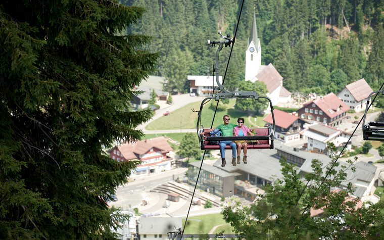 Heuberg chairlift in Hirschegg | © Oberstdorf Kleinwalsertal mountain railways | Photographer: Christian Seitz