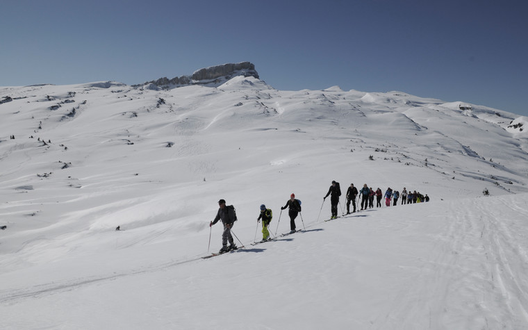 Ski tour at Gottesacker Plateau | © ALPIN - The Mountain Magazine | Birgit Gelder