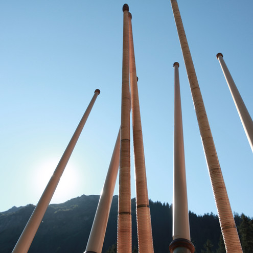 Alphorns tower in the sky | © Kleinwalsertal Tourismus eGen | Photographer: Frank Drechsel