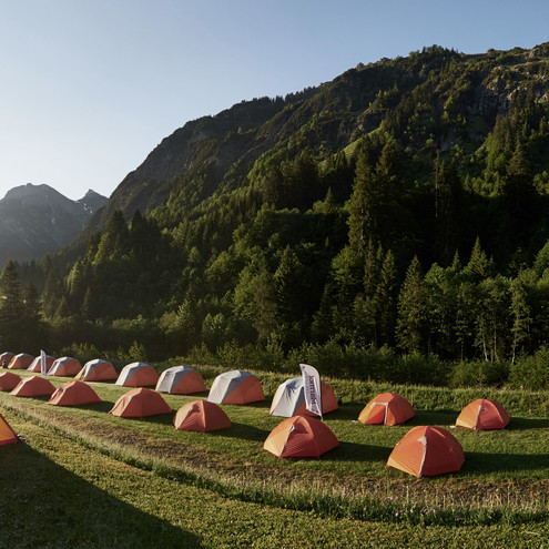 Camping at the Marmot Family Camp | © Kleinwalsertal Tourismus eGen | Photographer: Ben Wiesenfarth