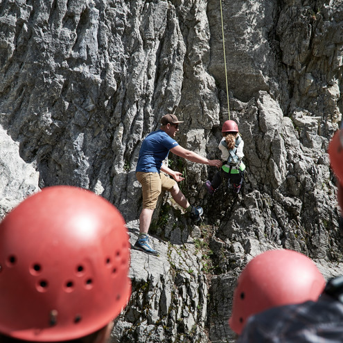 Climbing course at the Marmot Family Camp | © Kleinwalsertal Tourismus eGen | Photographer: Ben Wiesenfarth