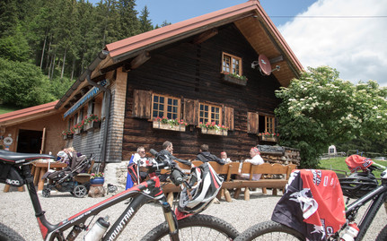 Stop on the mountain bike tour | © Kleinwalsertal Tourismus eGen | Photographer: Frank Drechsel