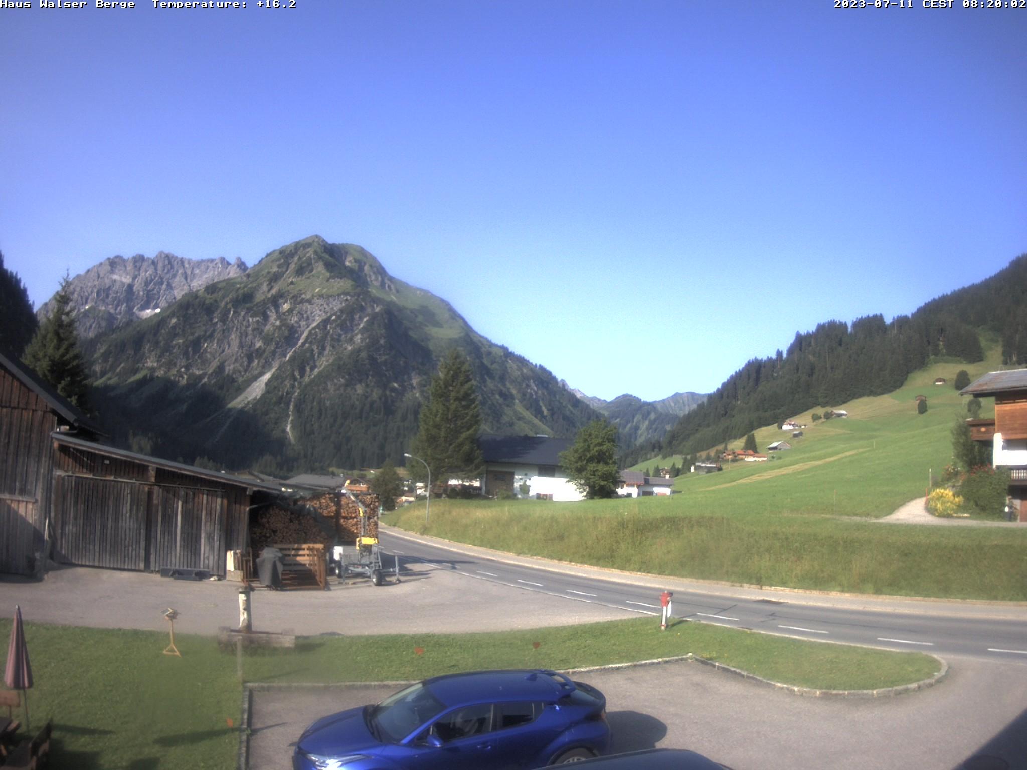 Webcam Kleinwalsertal - Mittelberg - haus walser berge - 1169 m